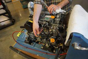 Working on diesel engine