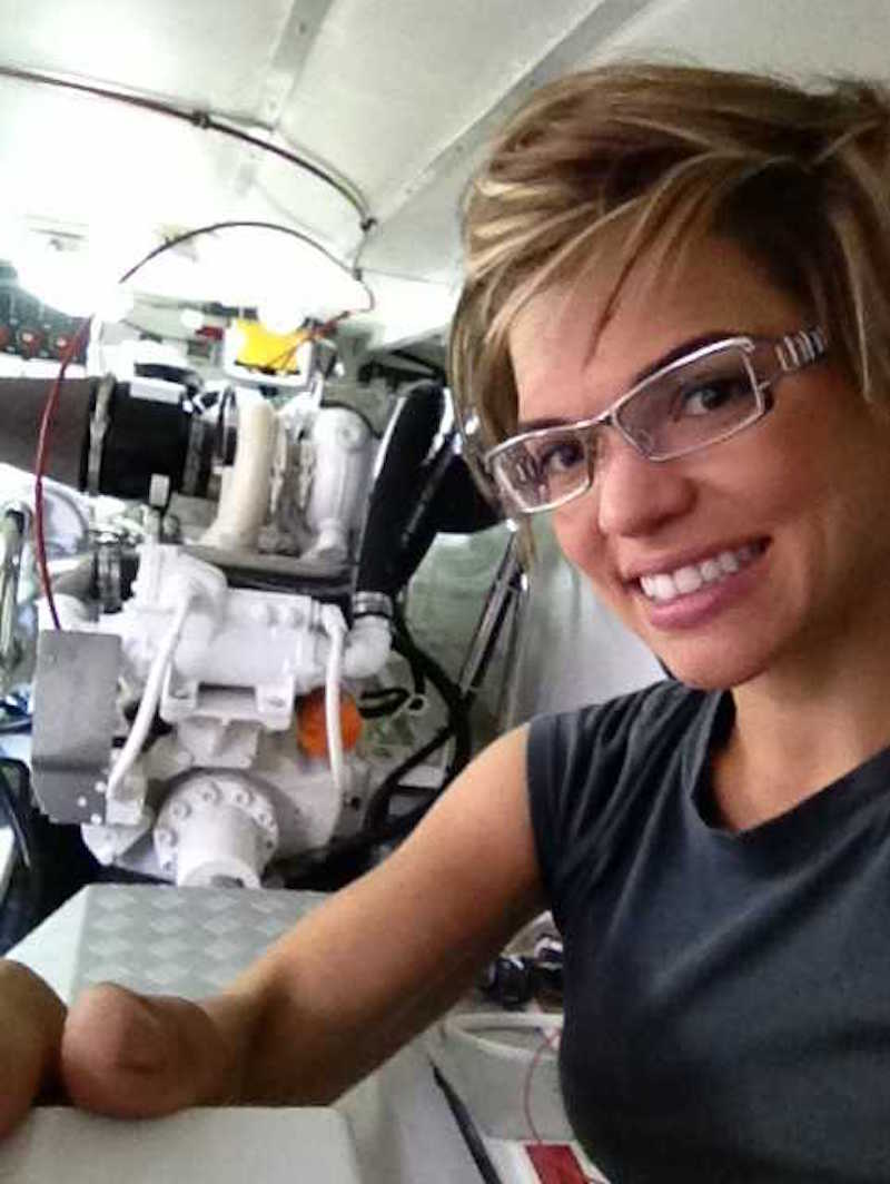 Cruiser's College Instructor Jen Haaland teaches Engine Room Investigations