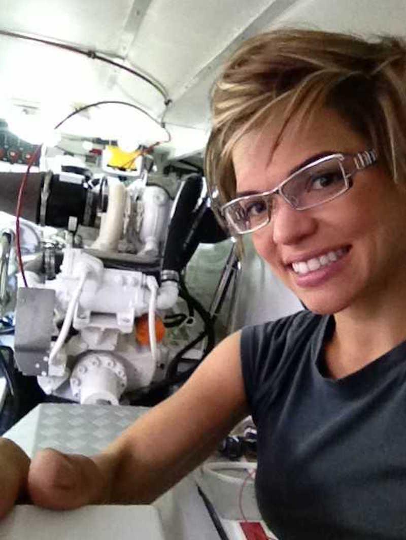 Cruiser's College Instructor Jen Haaland teaches Engine Room Investigations