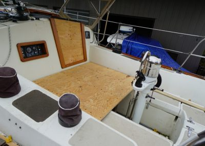 Plywood in cockpit