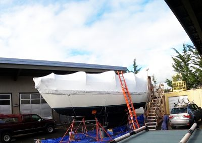 Boat Shrink Wrapped